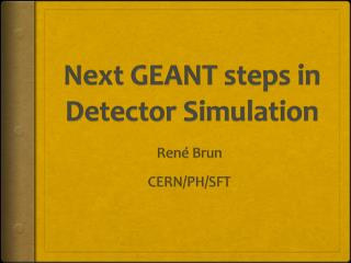 Next  GEANT  steps  in Detector Simulation