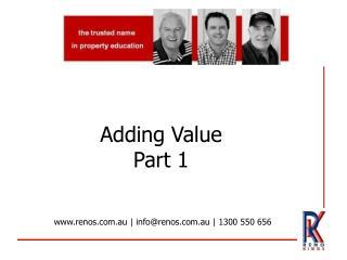 Adding Value Part 1
