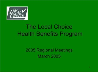 The Local Choice  Health Benefits Program