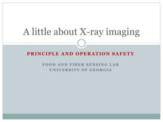 A little about X-ray imaging