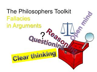 The Philosophers Toolkit Fallacies  in Arguments