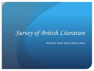 Survey of British Literature