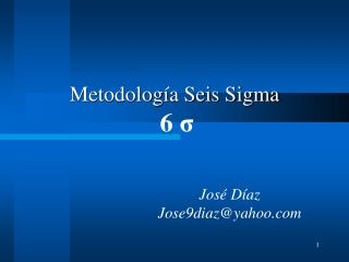 Metodolog a Seis Sigma  6 s