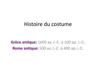Histoire du costume