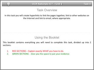 OCR Nationals ICT – Unit 2
