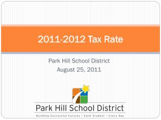 2011-2012 Tax Rate