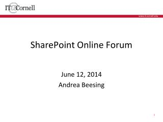 SharePoint Online Forum