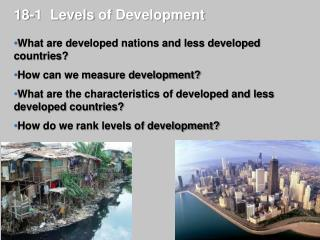 18-1  Levels  of Development
