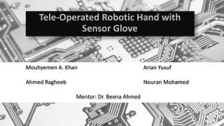 Tele-Operated Robotic Hand with Sensor Glove