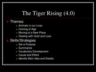 The Tiger Rising (4.0)