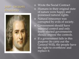 Jean –Jacques Rousseau