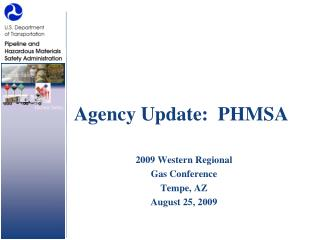Agency Update:  PHMSA