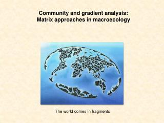 Community and gradient analysis:  Matrix approaches in  macroecology