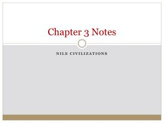 Chapter 3 Notes