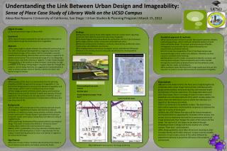 Understanding the Link Between Urban Design and  Imageability :