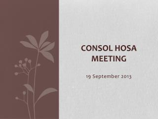 Consol  HOSA Meeting