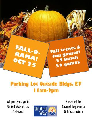 Fall  treats  & fun  games! $5 lunch $2 games