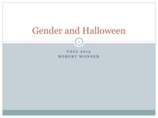 Gender and Halloween