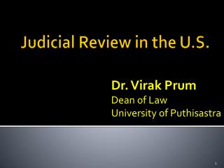 Judicial Review in the U.S.
