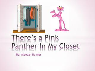 There's a Pink Panther In My Closet