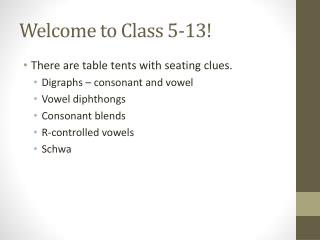 Welcome to Class 5-13!