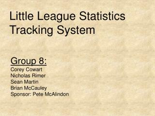 Little League Statistics Tracking System