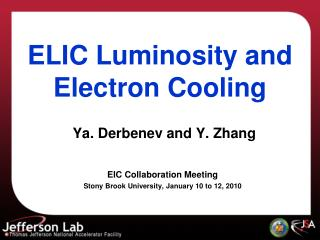 ELIC Luminosity and Electron Cooling
