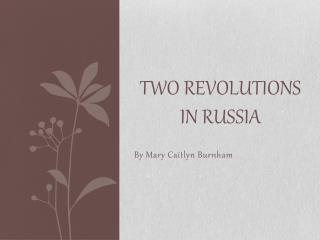 Two Revolutions in Russia