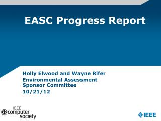 EASC Progress Report