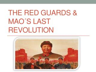 The Red Guards & Mao ´s Last Revolution