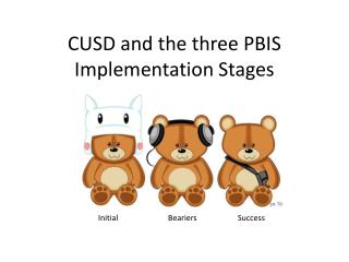 CUSD and the three PBIS Implementation Stages