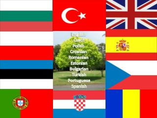 English   Czech  Polish  Croatian  Romanian  Estonian  Bulgarian  Turkish  Portuguese  Spanish