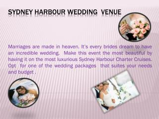Sydney Harbour Wedding venue