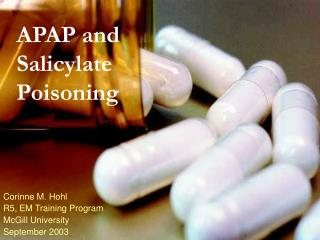 APAP and  Salicylate Poisoning
