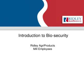 Introduction to Bio-security