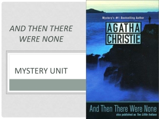 And Then There Were None mystery unit