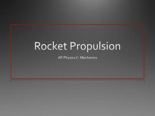 Rocket Propulsion