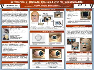 Development of Computer  Controlled Eyes for Patient Simulator