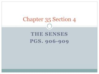 Chapter 35 Section 4