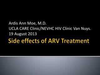 Side effects of ARV Treatment