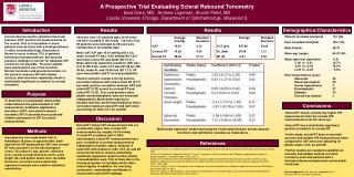 A Prospective Trial Evaluating Scleral Rebound Tonometry