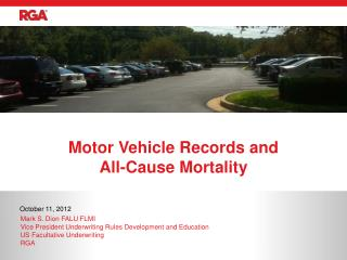 Motor Vehicle Records and  All-Cause Mortality