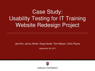 Case Study: Usability Testing for IT Training Website Redesign Project