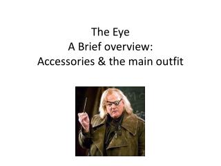 The Eye  A Brief overview: Accessories & the main outfit