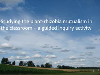 Studying the plant-rhizobia mutualism in the classroom – a guided inquiry activity