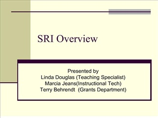 SRI Overview