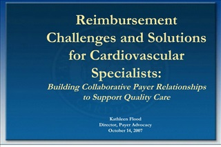 Reimbursement Challenges and Solutions for Cardiovascular ...