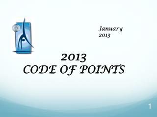 2 013  CODE OF POINTS