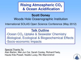 Rising Atmospheric CO 2  & Ocean Acidification