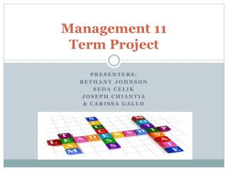 Management 11 Term Project